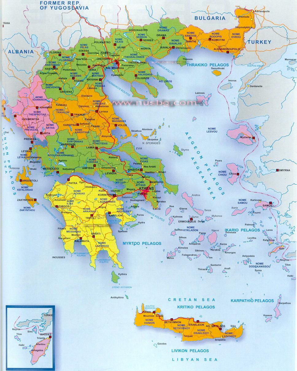 Grcka Mape Halkidiki Skiathos Olimpska Riviera Parga Tasos
